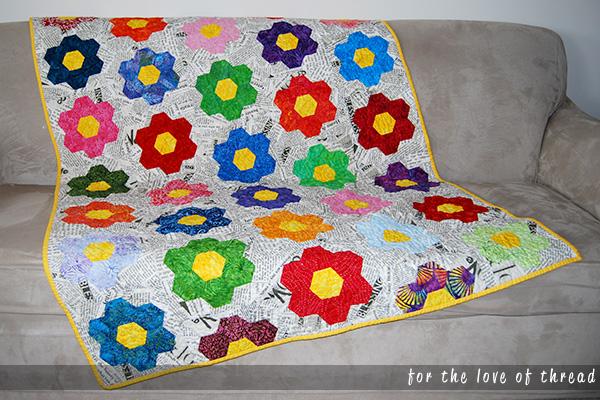 full size Hexy MF Redo quilt