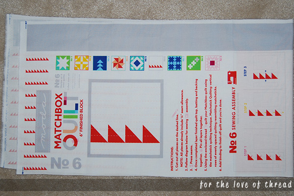 matchbox quilt instructions