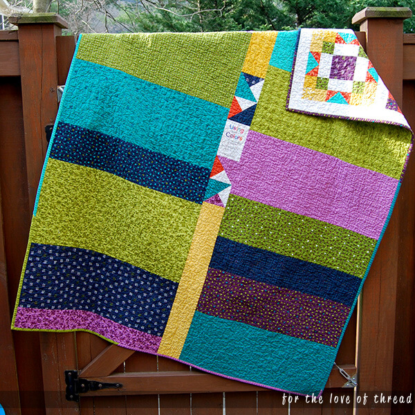 summer sampler quilt back