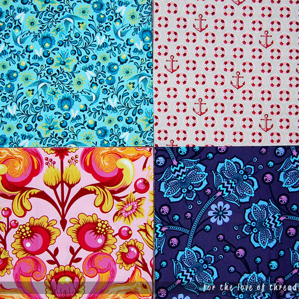 fabrics used for strawberry star block