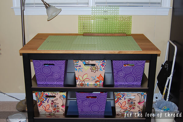 Ikea kitchen island as a cutting table