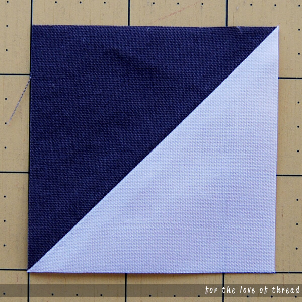 half-square triangle quilt block