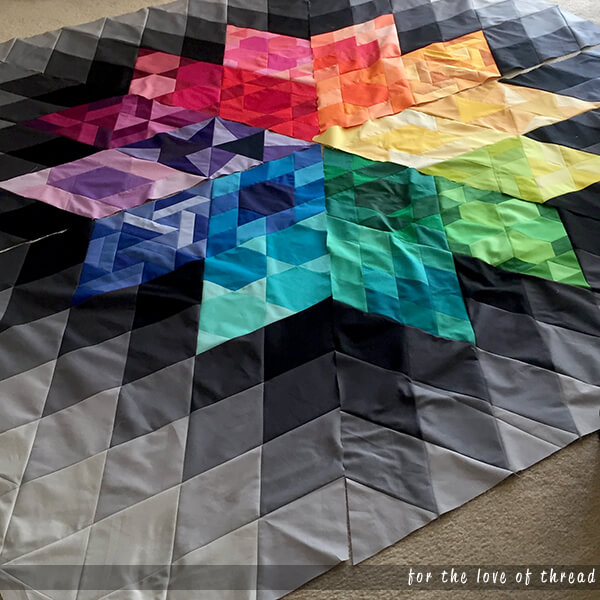gravity quilt top