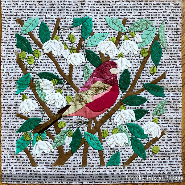naturalist's notebook quilt block