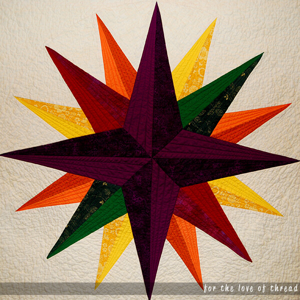 mariner's compass star quilt block