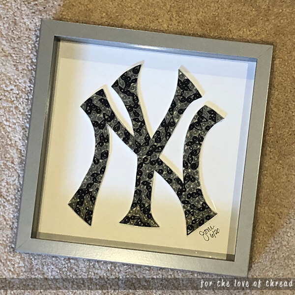 Yankees logo quilling project