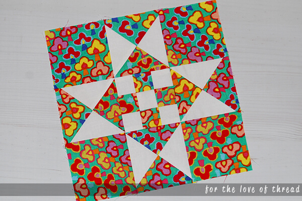 rose miss Lizzy quilt block