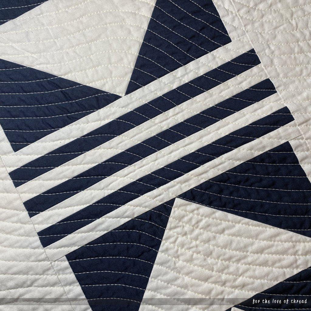 closeup of streamline mini quilt