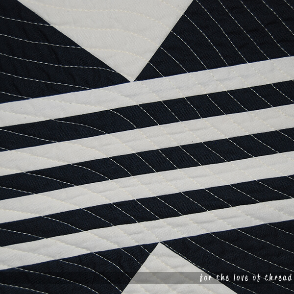 close up of quilting on Streamline quilt