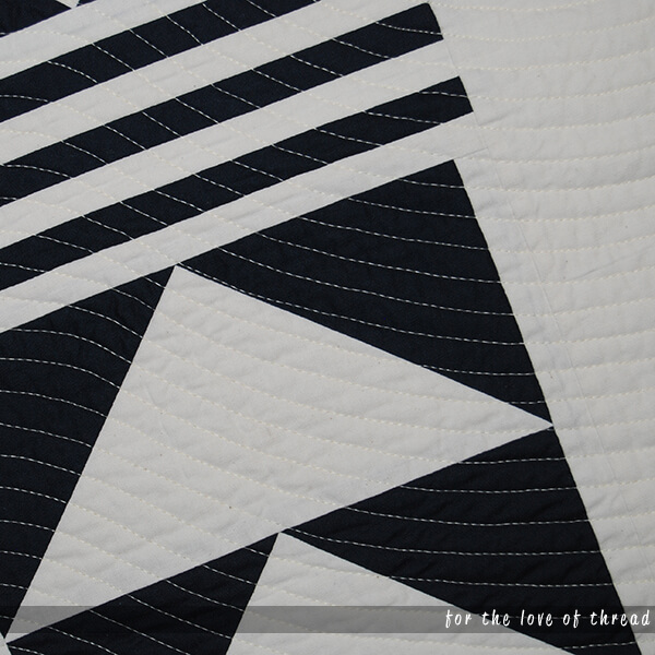close up quilting of Streamline quilt