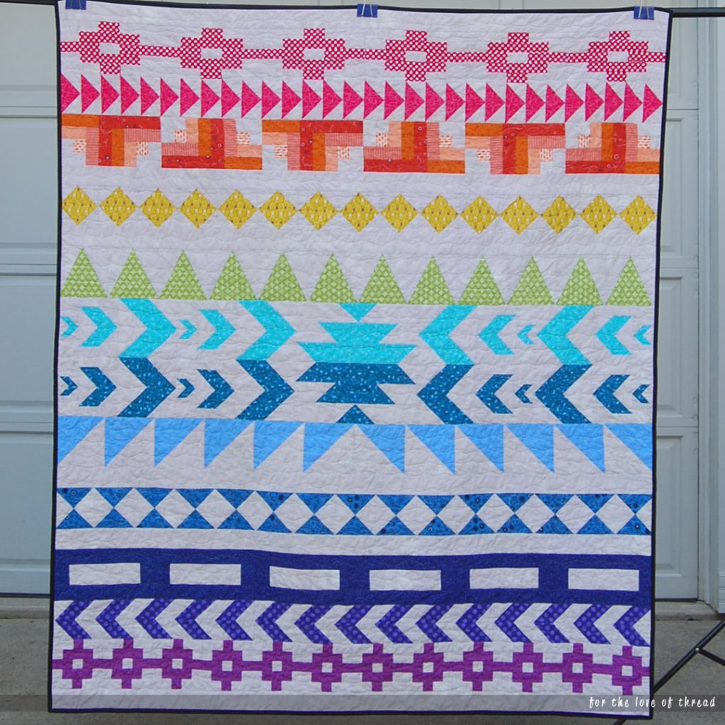 full view of sunset isle quilt